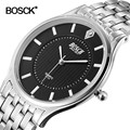Bosck Male Watch Luxury Brand 2016 Sport Watches For Men Waterproof Black Men Watches Stainless Steel Reloj Hombre marca de lujo