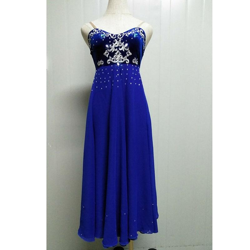 Custom Made Romantic Ballet Dress Nightgown Ballet Costumes,Royal Blue Soft Ballet Long Skirt Lyrica Ballet Dress Long Skirt