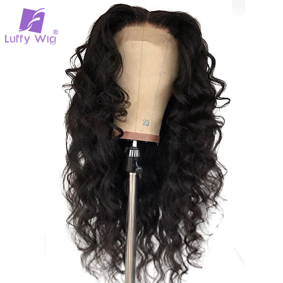 Luffy 13x6 Lace Front Human Hair Wigs Wave Malaysian Lace Frontal With Baby Hair Pre Plucked