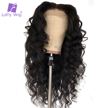 Luffy 13x6 Lace Front Human Hair Wigs Wave Malaysian Lace Frontal With Baby Hair Pre Plucked Non-remy Hair 130%density for Women