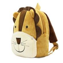 3D cartoon lion backpack boy childrens school bags children's plush bag baby kindergarten package Mochila Infantil For 2-4 years