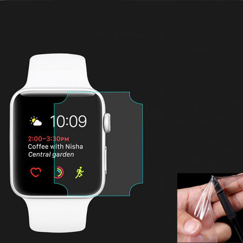 2pcs TPU Soft Full Coverage Edge Protective Film (Not Glass)For Iwatch Apple Watch Series 1/2/3 38mm 42mm Screen Protector Cover