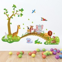 Cartoon creative DIY children PVC stickers stickers no residual animal Decorate a room for a child