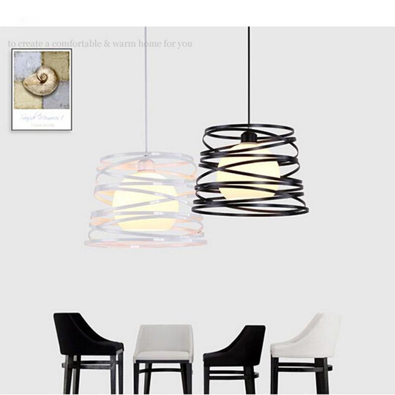 T Loft Simple Iron American Style Pendant Light For Dining Room Home Restaurant Creative Study Room Living Room LED E277