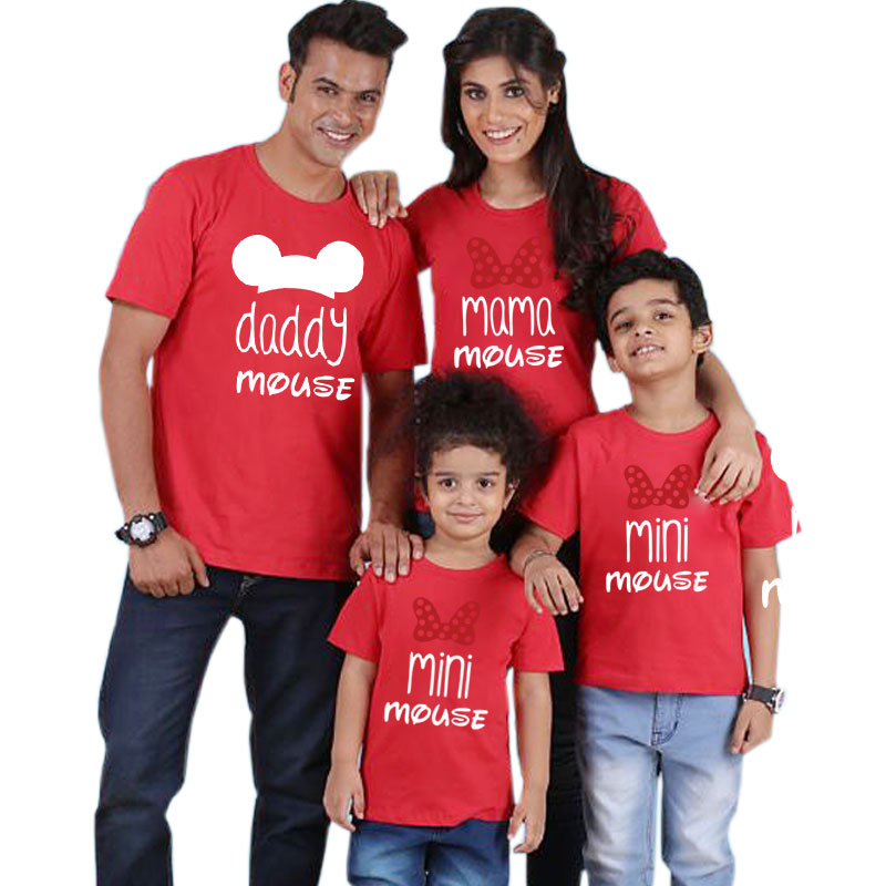 HTB1o31XeNiH3KVjSZPfq6xBiVXau - family t shirt mini mouse cartoon daddy mommy and me clothes mama girl father son mother daughter bows matching outfits look nmd