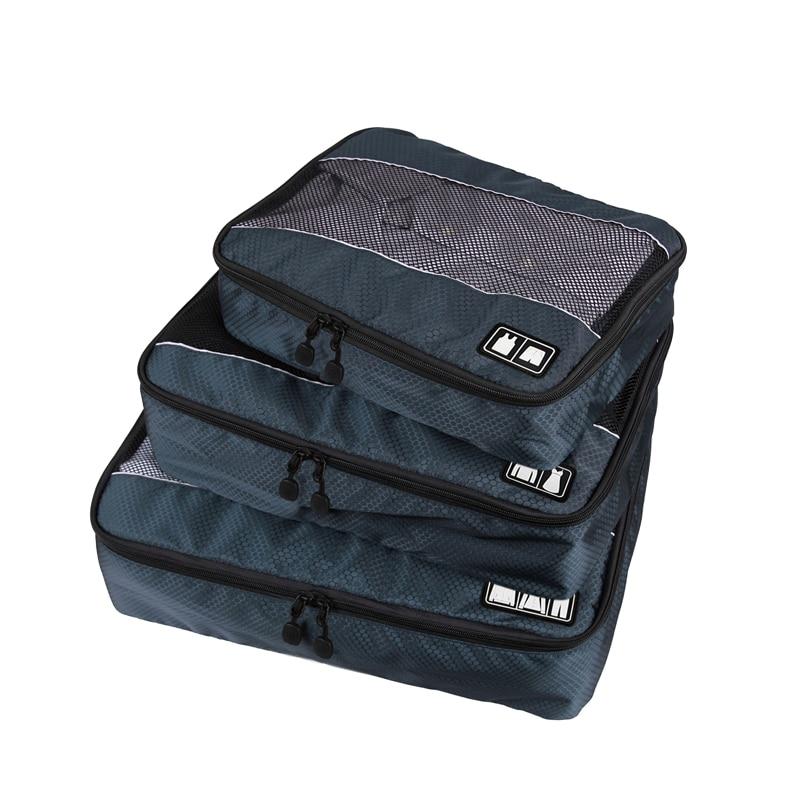 3 unids/set bolsa de viaje para hombre bolsa de ropa de cubo bolsa plegable bolsa de lona de gran capacidad organizador de clasificación de equipaje accesorios de viaje Pantalla Ultra grande de 3