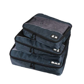 3Pcs/Set Men Travel Bag Packing Cube Clothes Pouch Foldable Duffle Bag Large Capacity Luggage Sorting Organizer Trip Accessories - DISCOUNT ITEM  37% OFF All Category