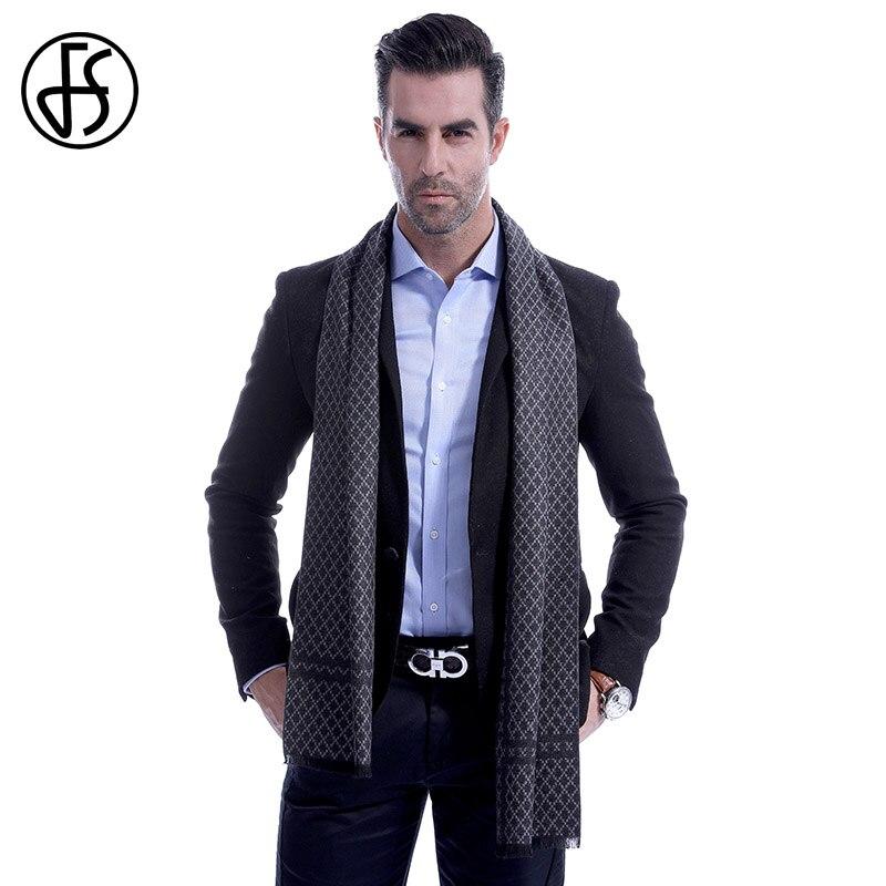 FS Men   Scarf   Winter Autumn Fall Men   Scarves     Wrap   Shawl Long Cashmere Luxury Pashmina Echarpe Homme New Geometric Diamond Fashion