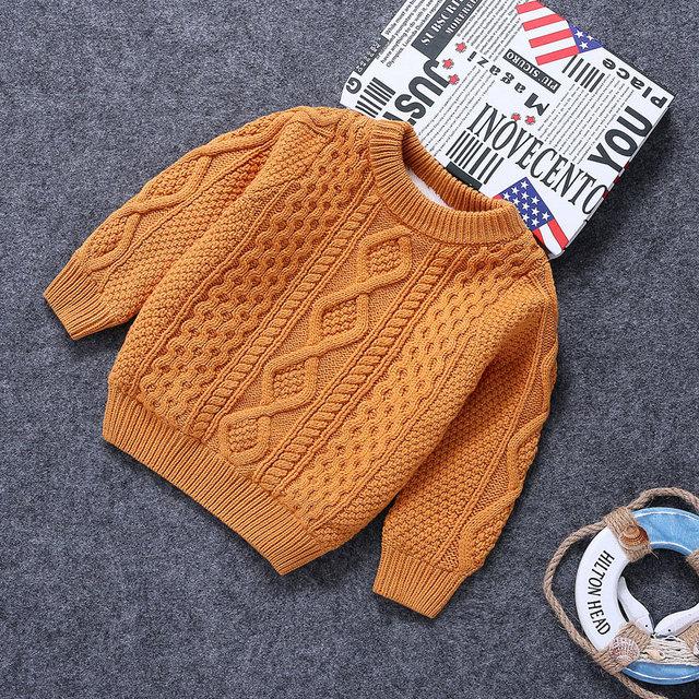 Crianças Sólida Em Torno Do Pescoço Pulôver Camisola para Meninas 2017 Outono Nova Moda Blusas Meninas Meninos Camisolas Hot Sale