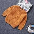 Niños Sólido Suéter de Cuello Redondo Suéter para Las Niñas 2017 Otoño Nuevas Muchachas de La Manera Suéteres de las Muchachas Suéteres de La Venta Caliente