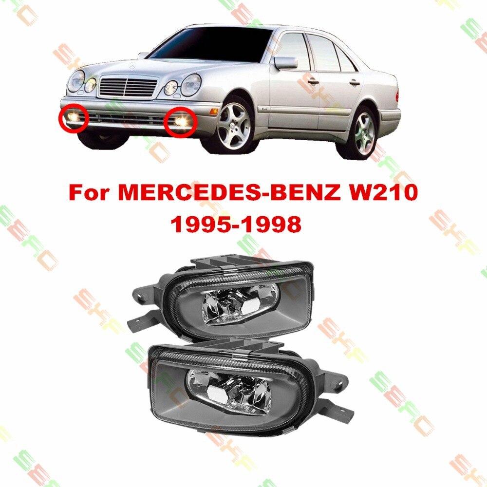 Для MERCEDES-BENZ автомобиль W210 1995-1998 укладки противотуманные фары туман Лампа 1 набор хрусталя