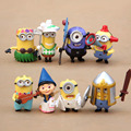 8PCS Cute Despicable Me 2 Minion in Action Figurine Minions Cosplay  Miniature Figures  Fairy Decor Toys Doll Retail 96922