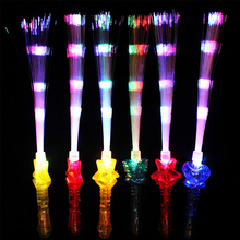 Party Glow Stick Rainbow Color Easy Operate Shows Fiber Optic Halloween Club LED Flashing Portable Blinking Concert Holiday цена