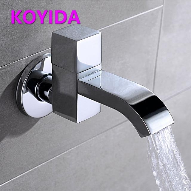 KOYIDA Chrome Brass Bathroom Bibcock Decorative Garden Faucets ...