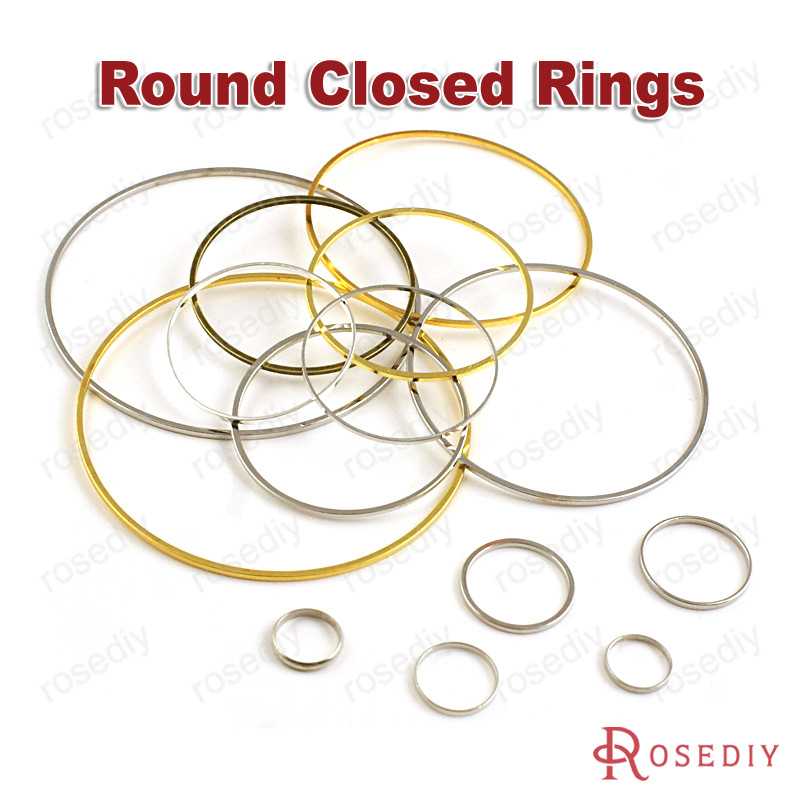 Wholesale 8mm 9mm 10mm 14mm 20mm 25mm 30mm 40mm 50mm 80mm Round Copper Closed Ring Diy Findings(JM6438)
