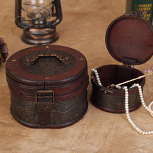 1Set Classic S M Size Wood Cylinder Jewelry Box Retro Jewelry Organizer Storage Case Necklace Rings Earrings Jewelry Container