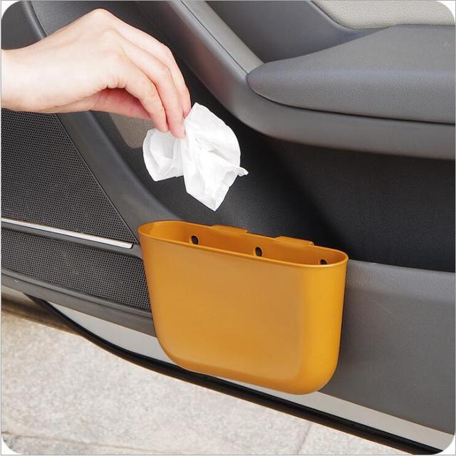 MOONBIFFY NEW car garbage can Car Trash Can Garbage Dust Case Holder Bin car-styling