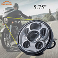 """Free Shipping New Motos Accessories 5.75""""  Sportsters led headlight for Harley 5-3/4"""" Motorcycle Black Projector Daymaker"""