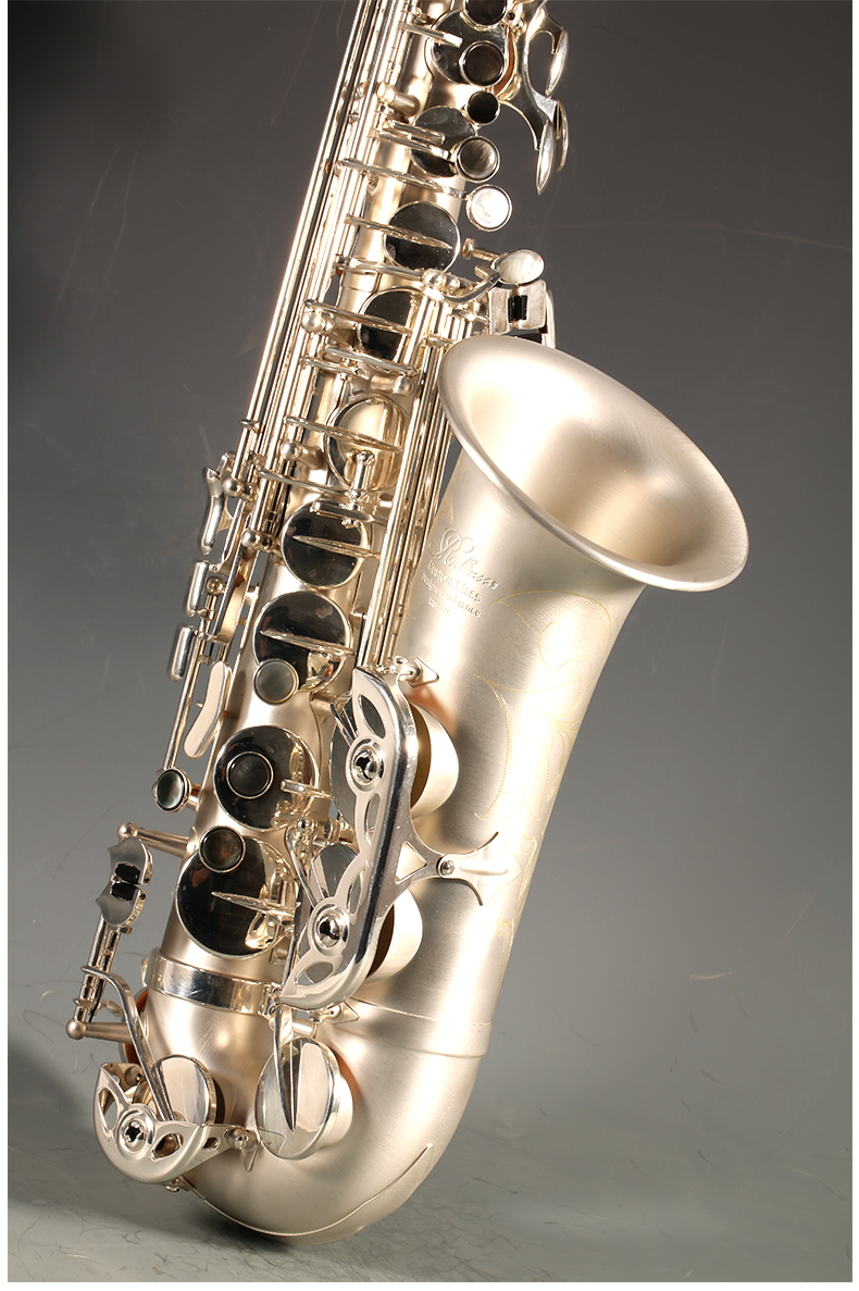 Brass France Rollinsax RSA-X6 E Flat Alto Saxophone Musical Instrument Eb Sax Unique Brushed Silver Plated Sax Free Shipping