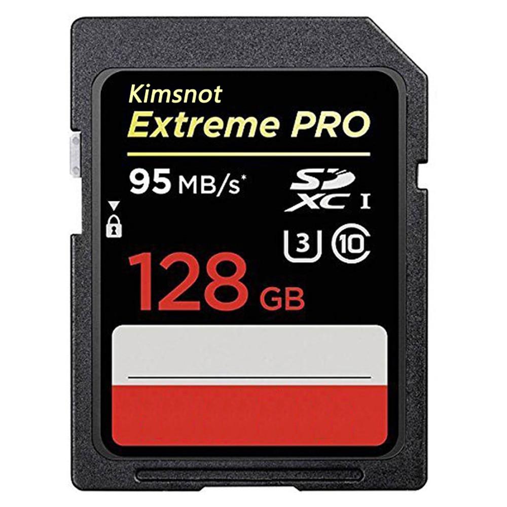 Classe 10 95 mb/s 256 do cartão da memória flash sdxc sdhc para a câmera cartão 128 do sd do extremo pro 633x de kimsnot UHS-I gb 64 gb 32 gb 16 gb