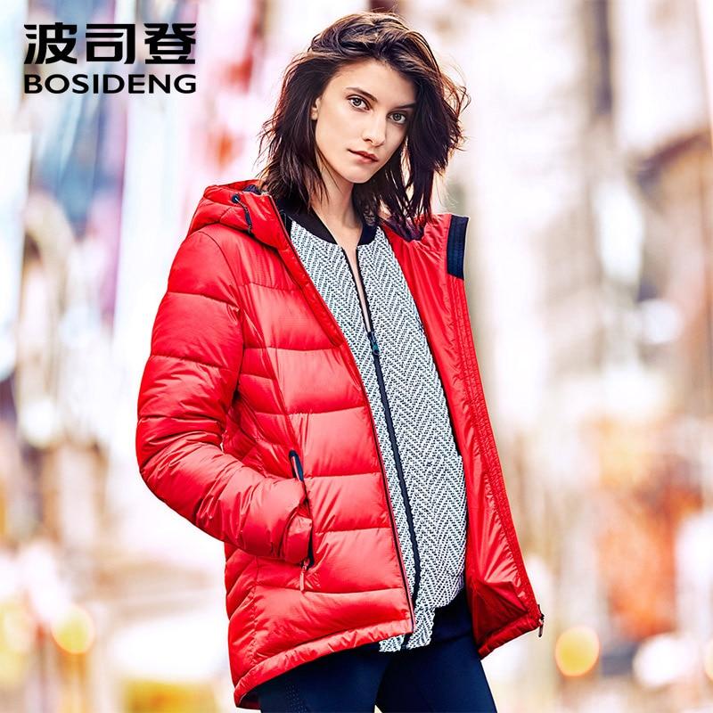 BOSIDENG new winter duck   down   jacket for women winter hoodie   down     coat   90% duck   down     coat   outwear top windbreaker B1601182