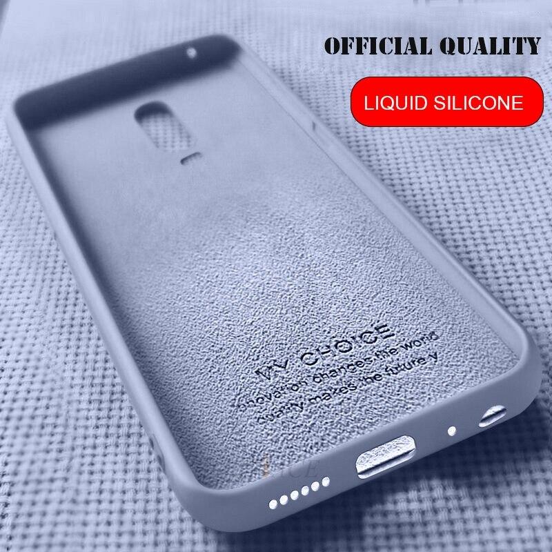 Liquid Silicone Phone Case For Oppo Reno 10x Zoom Z K1 K3 R15 R17 Pro F5 F9 A3s A5 A73 R15x Realme 3 X Lite 5 Pro X2 Soft Cover
