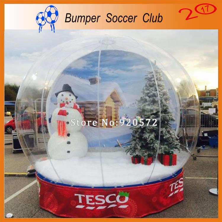 Free Shipping&Pump ! Outdoor 3m Christmas Decoration Inflatable Globe Snow Ball Inflatable Clear Bubble Ball For Advertising 3m diameter empty inflatable snow ball for advertisement christmas decorations giant inflatable snow globe