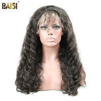 BAISI Brazilian Hair Wigs Natural Wave Full Lace Wigs Remy Hair with Pre Plucked Natural HairLine 10 26inch, Free Shipping