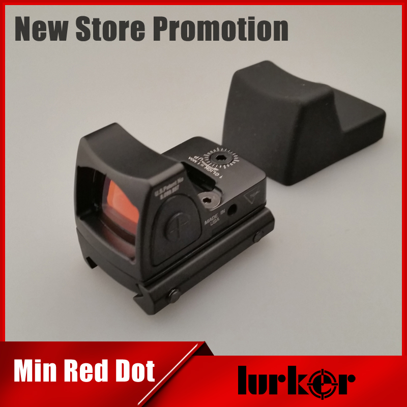Mini RMR Red Dot Sight Collimator Glock / Shotgun Reflex Sight Scope fit 20mm Weaver Rail For Airsoft / Hunting Rifle military tactical military rmr mini red dot sight reflex scope with picatinny rail for rifle hunting