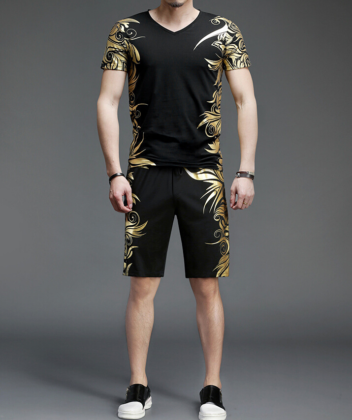 new fashion 2018 Tracksuit set Shorts Pants Casual Men hot sale track suit F951 ...