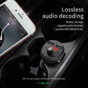 Image 5 - HOCO المزدوج USB شاحن سيارة LED عرض معالج إرسال موجات fm سماعة بلوتوث للسيارة عدة الصوت MP3 مشغل موسيقى آيفون 11
