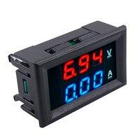 Voltmeter Ammeter 10A Dual Digital Volt Meter Gauge Voltage Current Amp DC 100V Blue + Red LED Home Tool Professional Dropship Measuring Tools