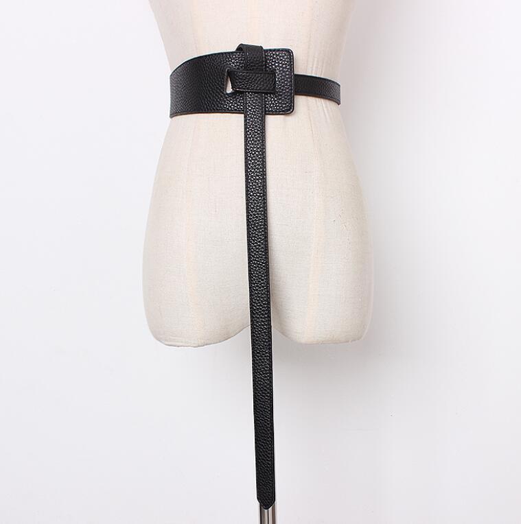 Women's Runway Fashion PU Leather Cummerbunds Female Dress Corsets Waistband Belts Decoration Wide Belt R1417