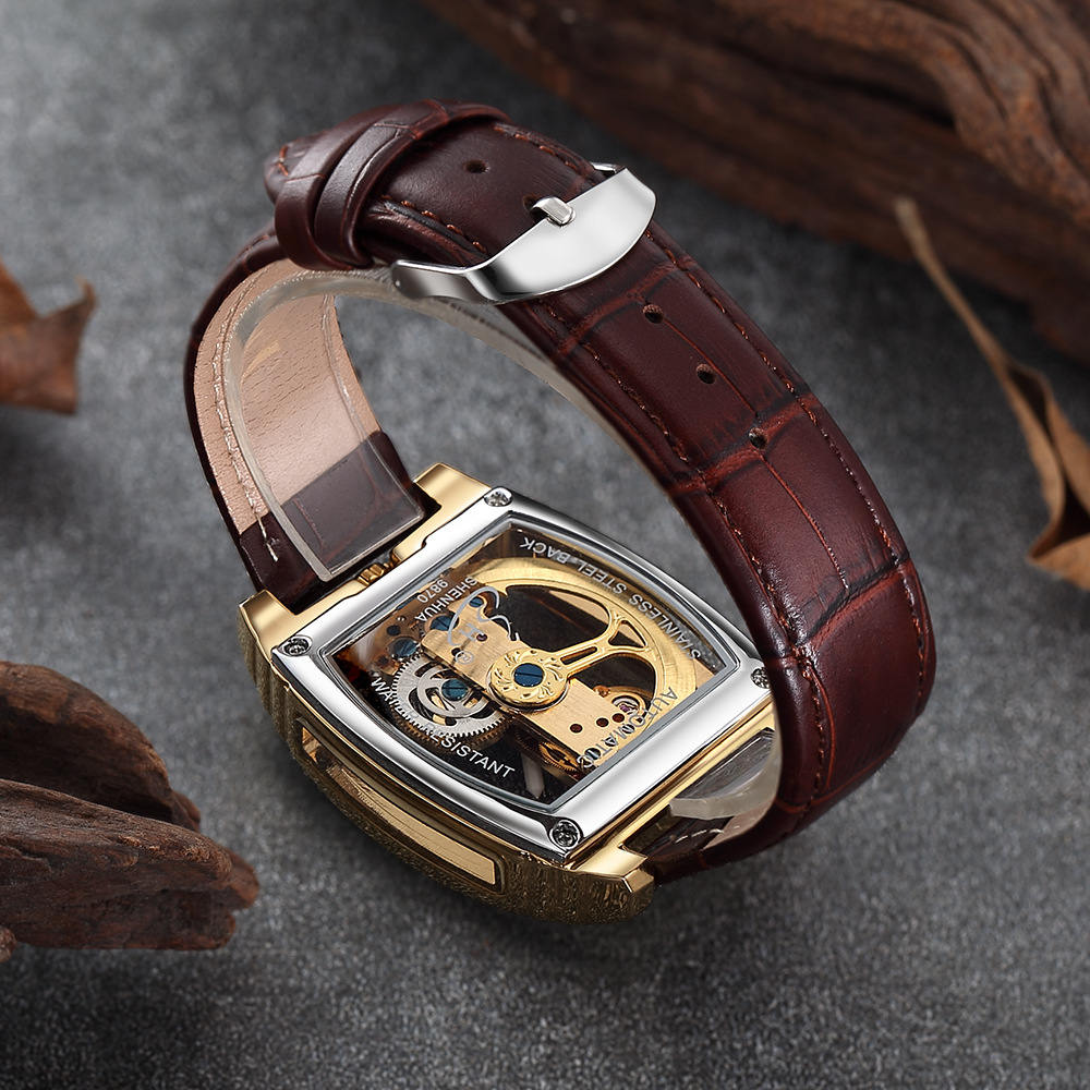 Image 5 - Golden Mechanical Watches Men Top Luxury Brand Automatic Self 