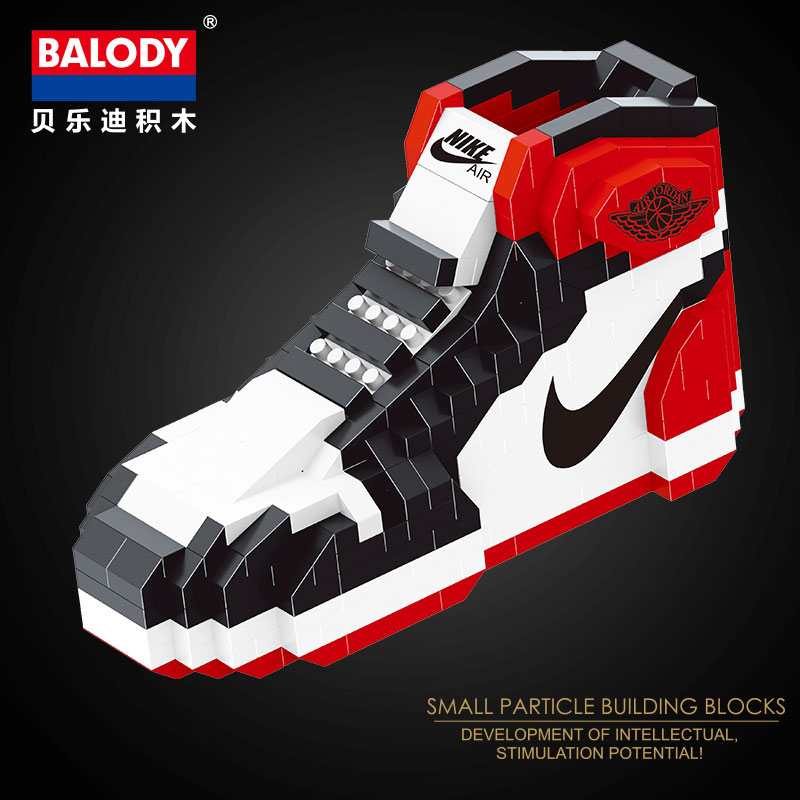 New Mini Building Blocks Diamond air Bricks Jordan Basketball Shoes 2019 Hot sport balody block aj niked bricks shoe in Blocks from Toys Hobbies
