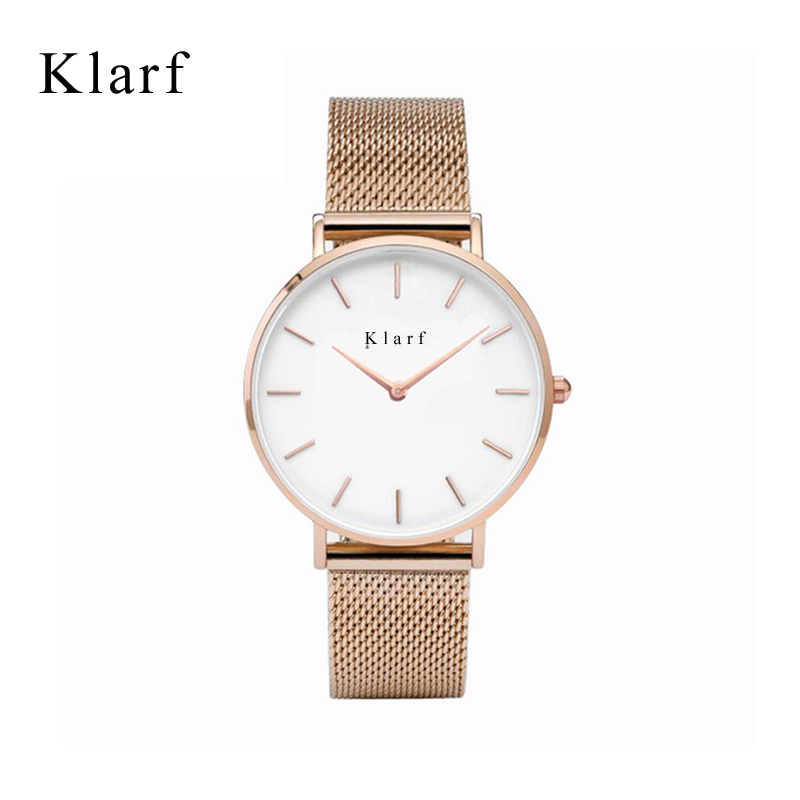 Relogio Feminino klarf Women Watches Montre Femme Marque De Luxe Leather Band Tonneau Shape Quartz Ladies men Watch Reloj Mujer