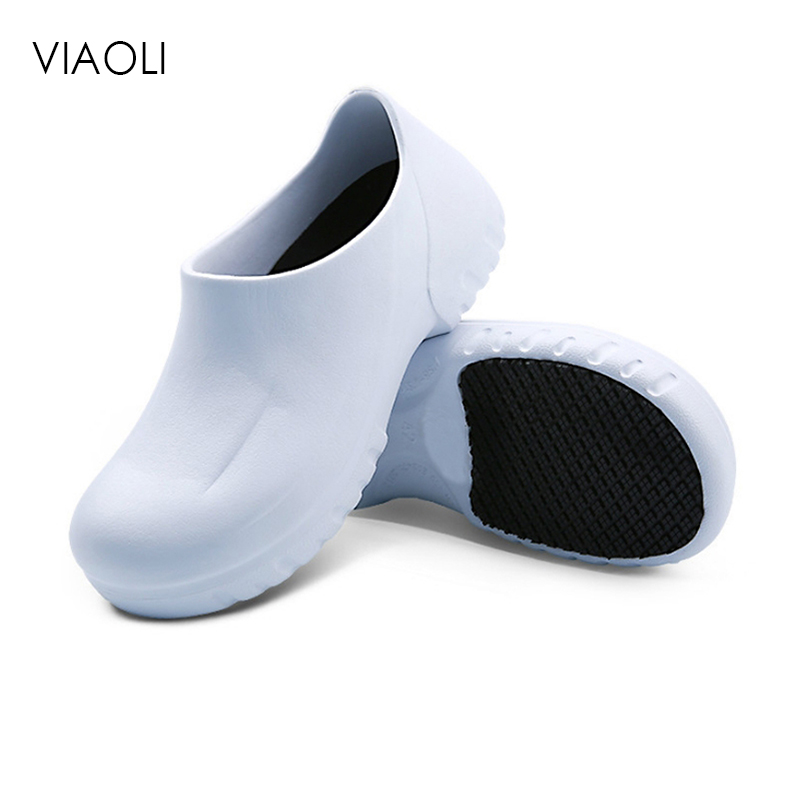 Men's Chef Shoes Breathable Non-Slip Kitchen Working Shoes Summer Hospital Doctor Nurse Shoes Medical Shoes Casual Footwear 2019