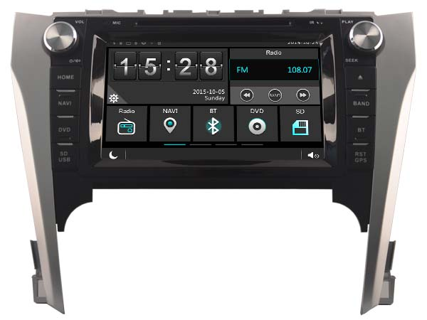 Car Gps Dvd Stereo Player Radio for Toyota Camry 2012 2014 Navigation Bluetooth A2DP HD Multimedia 3G WIFI DVR SWC After Market