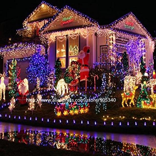 Cadena de luces LED de Navidad Solar lámparas de exterior Hada led Garland  guirnalda de jardín fa79f4f9bb9