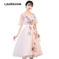 2019 bride modest bridesmaid engagment dresses 2018 winter bridemaids reception dresss with sleeves in pnk for weddings party