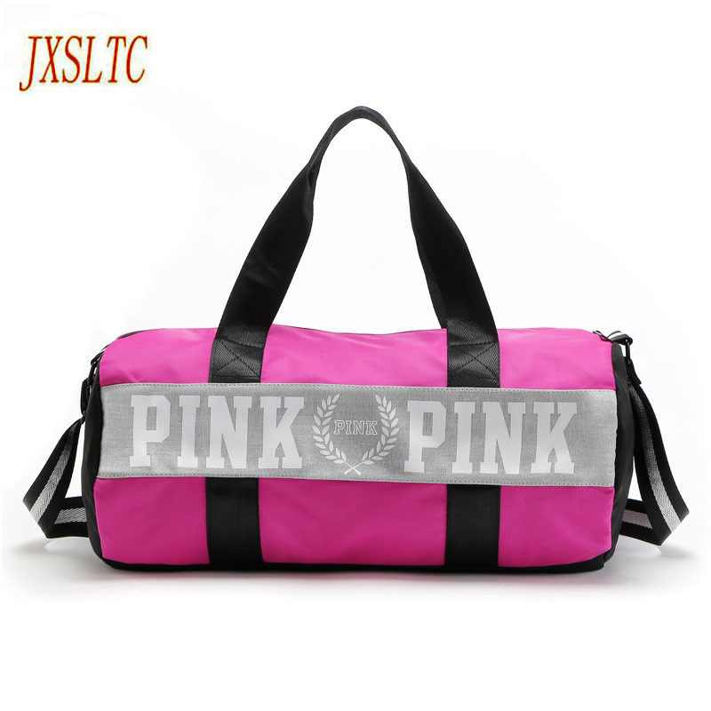 Fashion girl travel duffle bag women pink Victoria beach shoulder bags men large capacity Handbags Overnight weekend travel bag ...