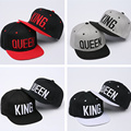4 color KING QUEEN Embroidery Snapback Hat Acrylic Men Women Couple <font><b>Baseball</b></font> <font><b>Cap</b></font> Gifts Fashion Hip-hop Sport <font><b>Caps</b></font> 2016 Hot Sale