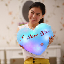 Music Luminous pillow Toys, Led Light Love Heart Pillow,Plush Pillow, Hot Colorful Stars,Kids Toys, Birthday Gift, Free Shipping