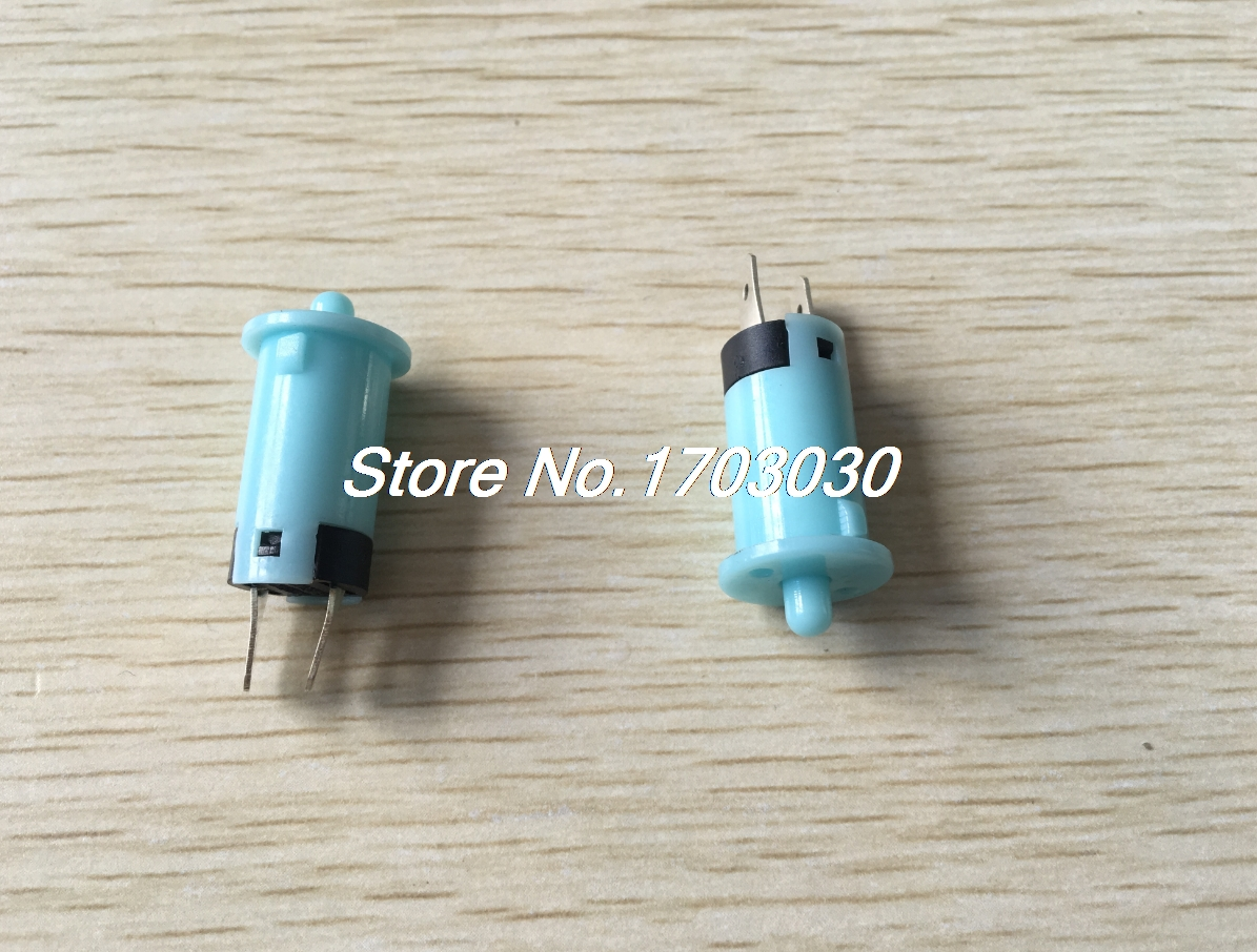 10 Pcs AC250V 1A SPST NO Momentary Blue Plastic Refrigerator Door Light Switch plastic rod spring wobble stick type momentary enclosed limit switch