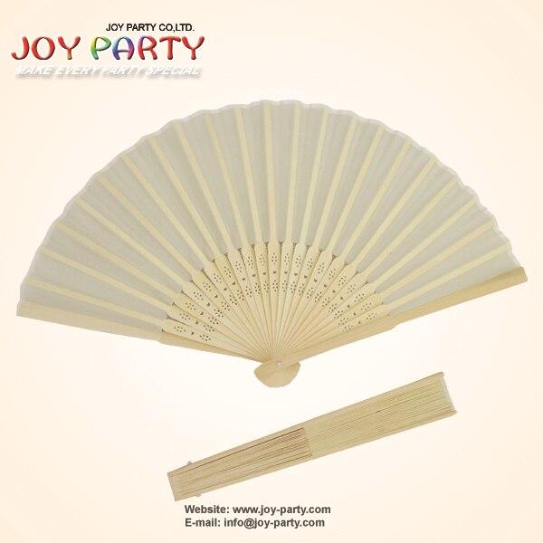10 Pcs/lot 21cm Ivory White/light Yellow Silk Hand Fan,Fabric Fan, Chinese Craft Fan,Wedding Party DIY Favor