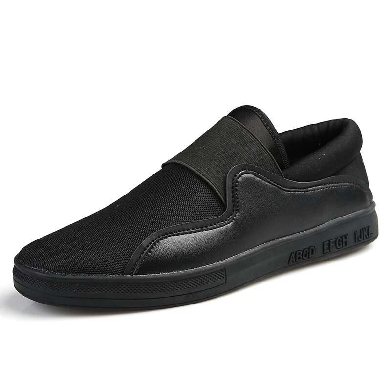 Prix pour 2017 Pas Cher Planches À Roulettes Sneakers Pour Hommes Respirant Hommes Planche À Roulettes Chaussures Sneakers Noir/Blanc Hommes Baskets Marche