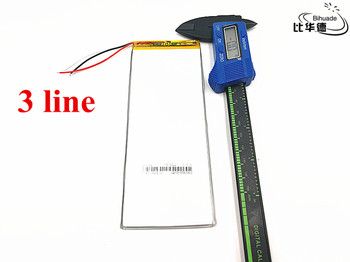 10pcs/lot 3 line large capacity 3.7V 3060160 tablet battery 4500mah each universal rechargeable