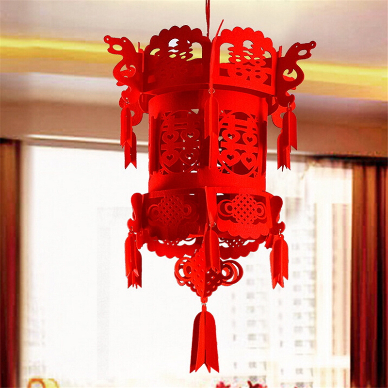 New Year Lucky Auspicious Red Double Happiness Chinese