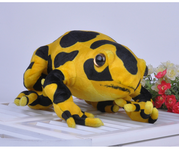 simulation yellow frog plush toy about 40cm soft throw pillow birthday gift b0347 simulation animal lifelike shark 140cm toy plush toy throw pillow birthday gift b4921