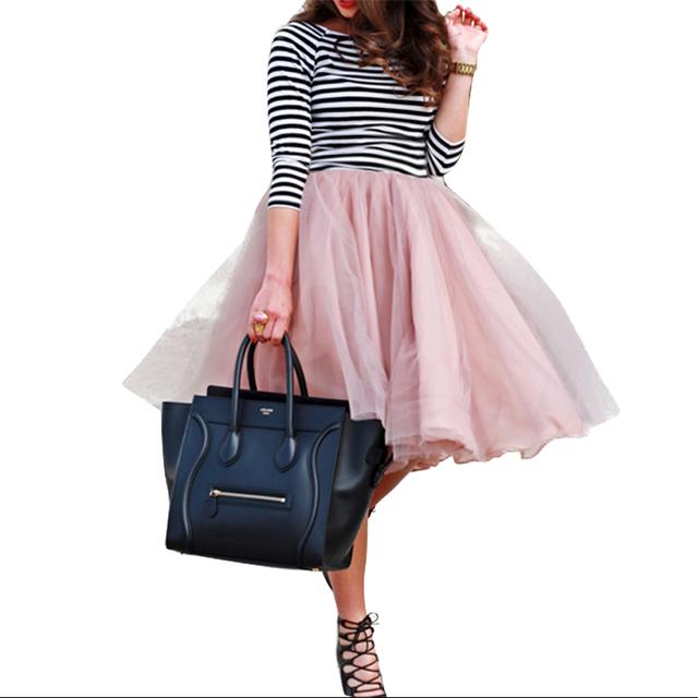 Otoño Tutu Falda Mujeres Niñas Esponjosa Princesa Faldas Plisadas Para Mujer Jupe Femme Rokken Invierno Por Encargo 7 Capas de Tul Faldas